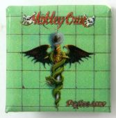 Motley Crue - 'Dr Feelgood' Square Badge